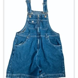 Street blues vintage short overalls zipfront-small